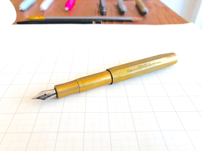 Brass Sport Fountain Pen - Fine