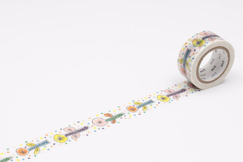mt Washi Tape - Mina Perhonen Flower White