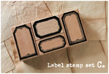 LCN Vintage Label Stamp Set C