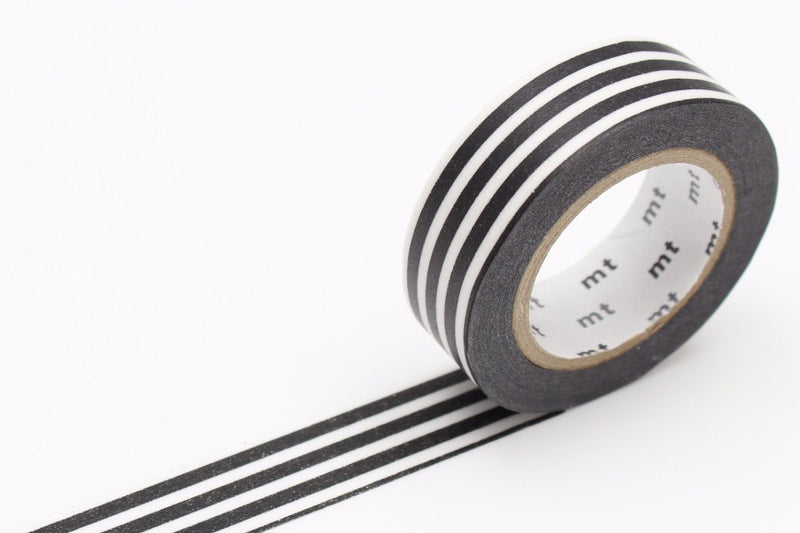 mt Washi Tape - Border Black