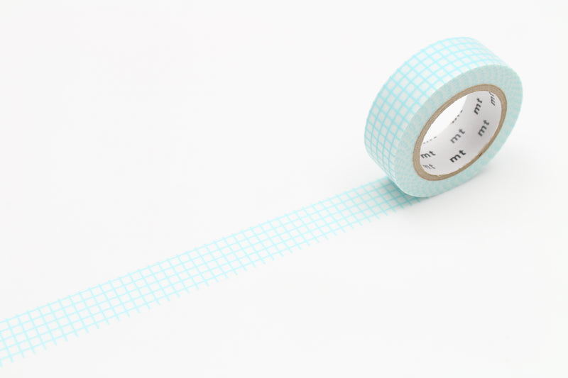 mt Washi Tape - Graph Hougan Mint Blue