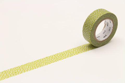 mt Washi Tape - Petals Mujinagiku Hiwa Green