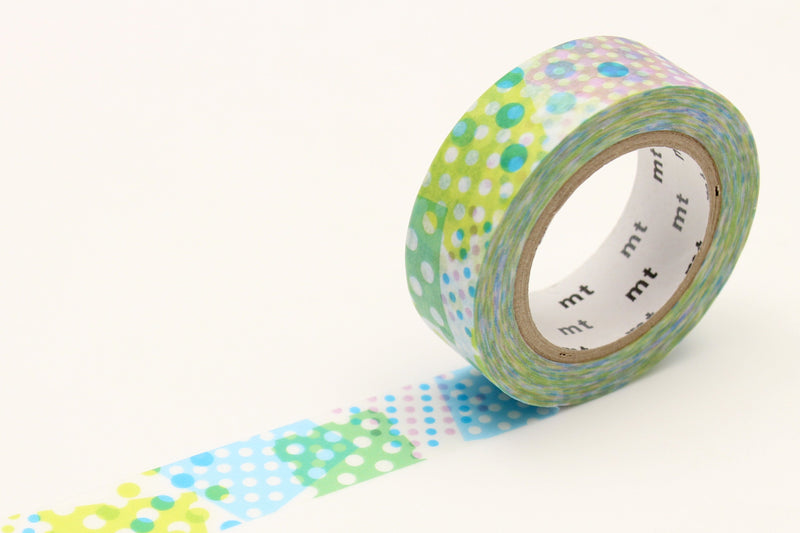 mt Washi Tape - Negapoji Dot Blue