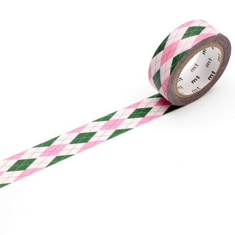 mt Washi Tape - Argyle Pink