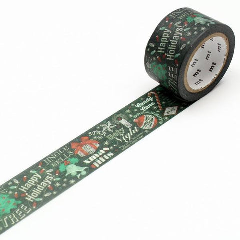 mt ex Washi Tape Blackboard Christmas