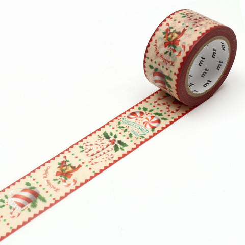 mt ex Washi Tape Candy Cane