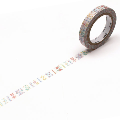 mt ex Washi Tape - Embroidery Line