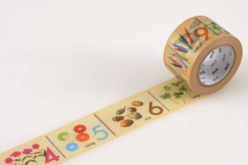 mt Washi Tape - Number (French)