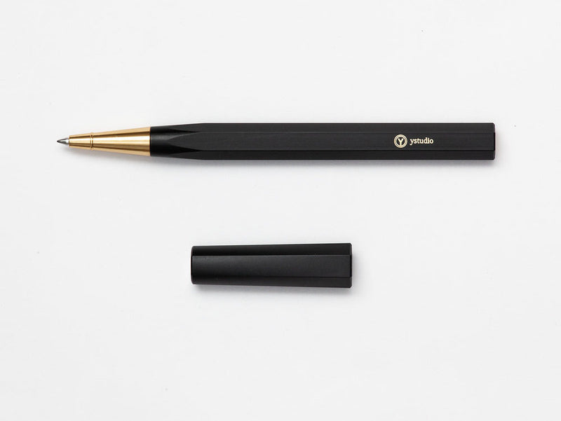 ystudio Resin - Rollerball Pen - Black