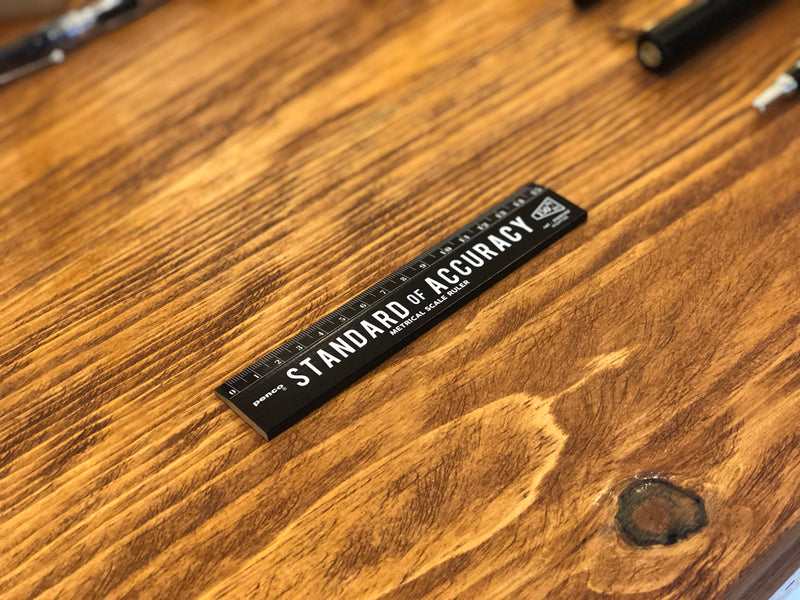 Wooden Ruler - 15cm - Black