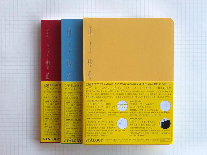 Stalogy Editor's Series 365Days Notebook - A6 - 1/2 - Colors