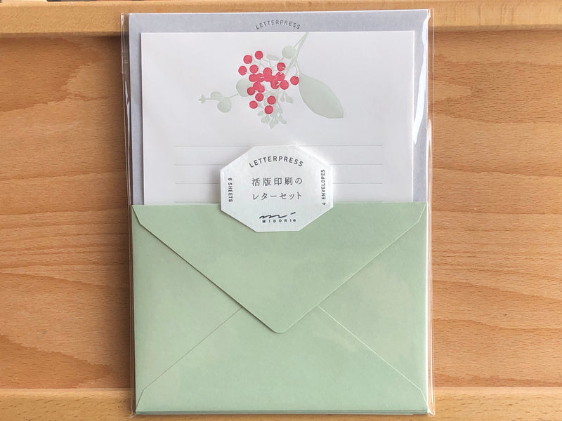 Letterpress Letter Set - Holly