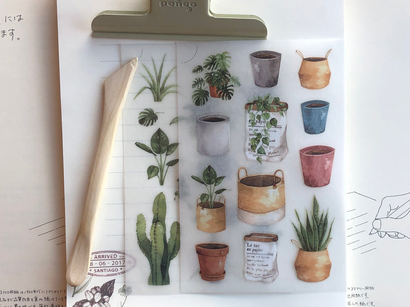 MU Print-On Stickers - Potted Succulents - #37