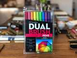 Dual Brush Pen Set - 10 Bright