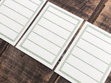 Classiky - Letterpress Memo Card - Dark Green