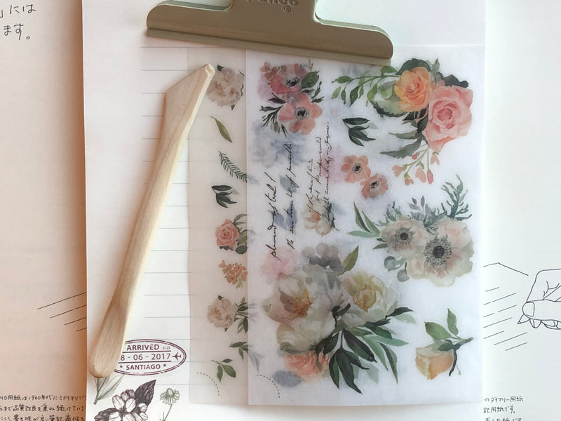 MU Print-On Stickers - Peachy Petals - #64
