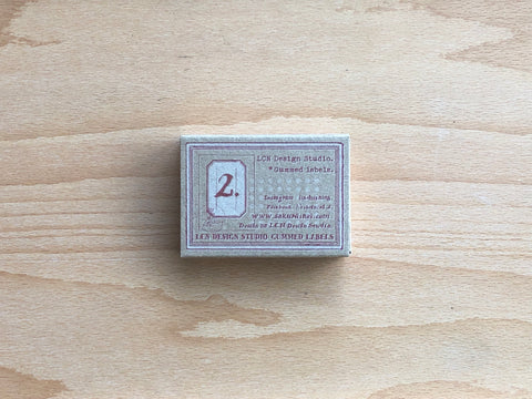 LCN Gummed Label Set - Specimen Labels No. 2