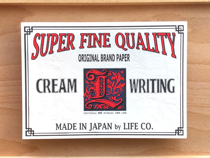 Life Brand Letter Pad - A5 - Cream Paper
