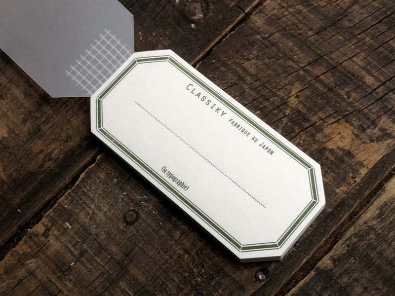 Classiky - Letterpress Water Adhesive Label Book - Green