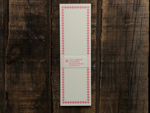 Classiky - Letterpress Folded Memo Card - Red