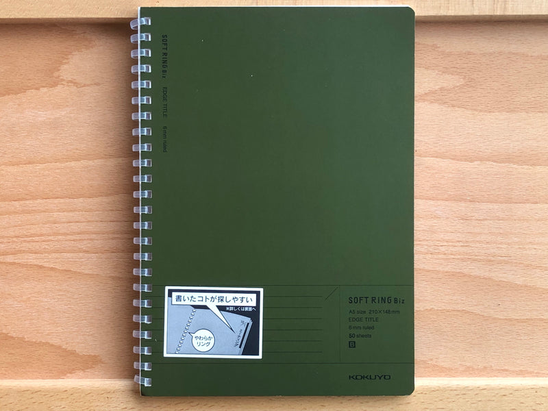Kokuyo Soft Ring Biz Notebook - Ruled - A5