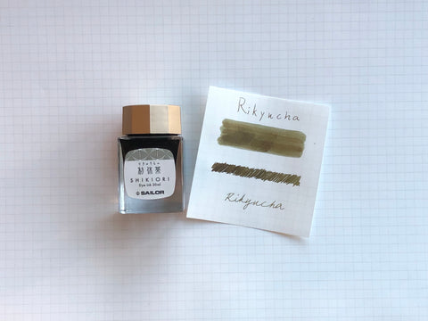 Sailor Shikiori Rikyu-Cha Ink - 20mL Bottle