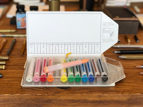 Glass Crayon Set - Water Soluble - 12 Colors