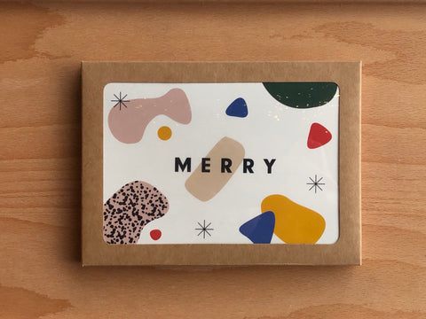 Modern Merry Holiday Cards - Set of 6