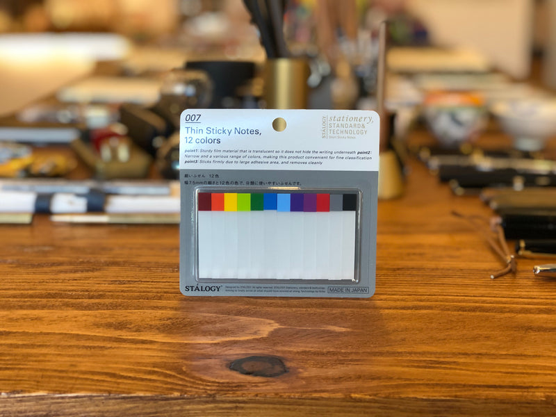 Thin Sticky Notes - 12 Colors