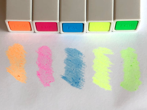 Kokuyo PASTA Soft Marker - 5 Neon Colors Set