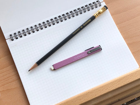 SEED Slendy+ Steel Holder Eraser - Pink