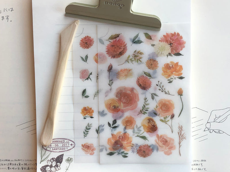 MU Print-On Stickers - Golden Blooms - #44