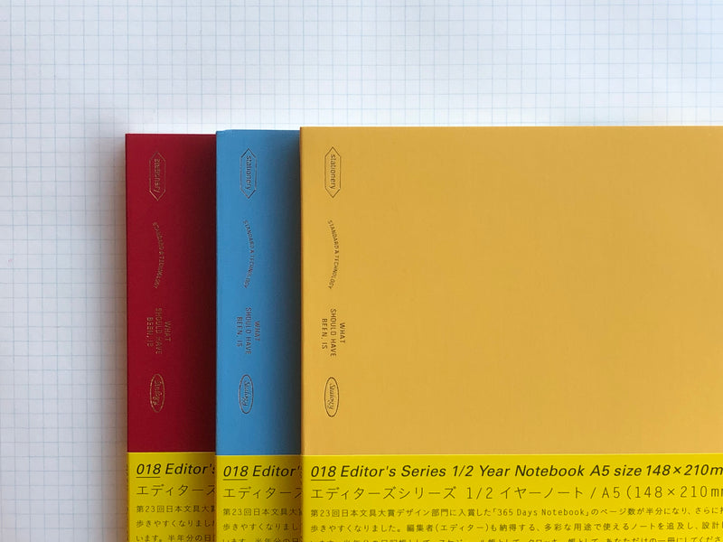 Stalogy Editor's Series 1/2 Year Notebook - A5 - Colors