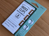 Index Clips - Gold