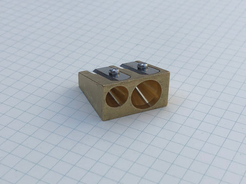 Dux Brass Pencil Sharpener - Wedge Double