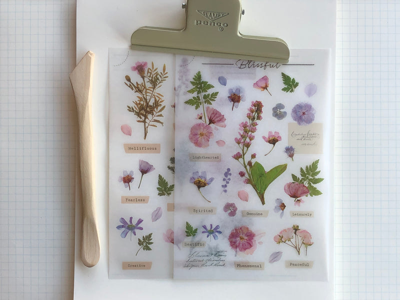 MU Print-On Stickers - Flower Sign - #104