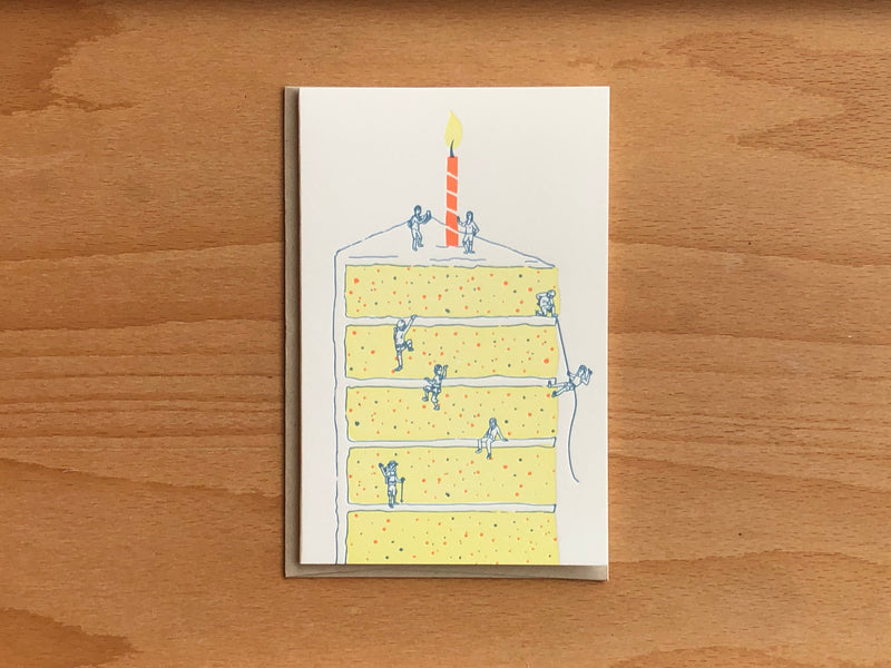 Cake Climbers Greeting Card
