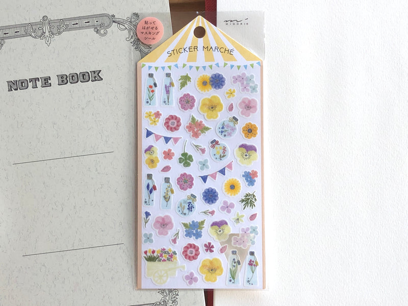 Sticker Marche Pressed Flower