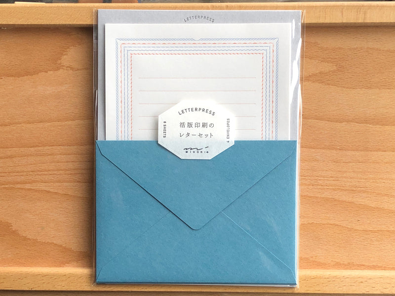 Letterpress Letter Set - Blue Frame