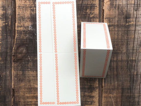 Classiky - Letterpress Folded Memo Card - Orange