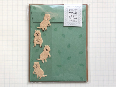 Mini Letter Set with Quokka Wallaby Stickers