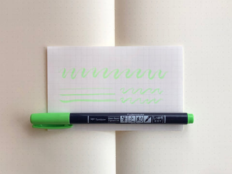 Fudenosuke Brush Pen - Neon Green