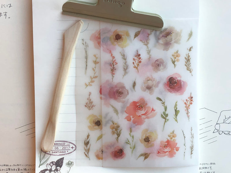 MU Print-On Stickers - Watercolor Blooms - #73