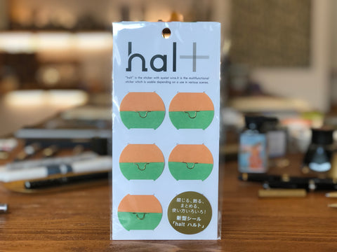 Halt Sticker - Organizing Sticker - Orange/Green
