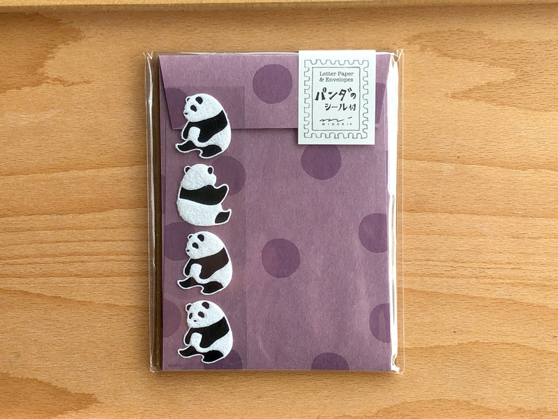 Mini Letter Set with Panda Stickers