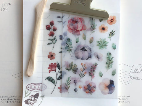MU Print-On Stickers - Blushing Peonies and Lilies - #11