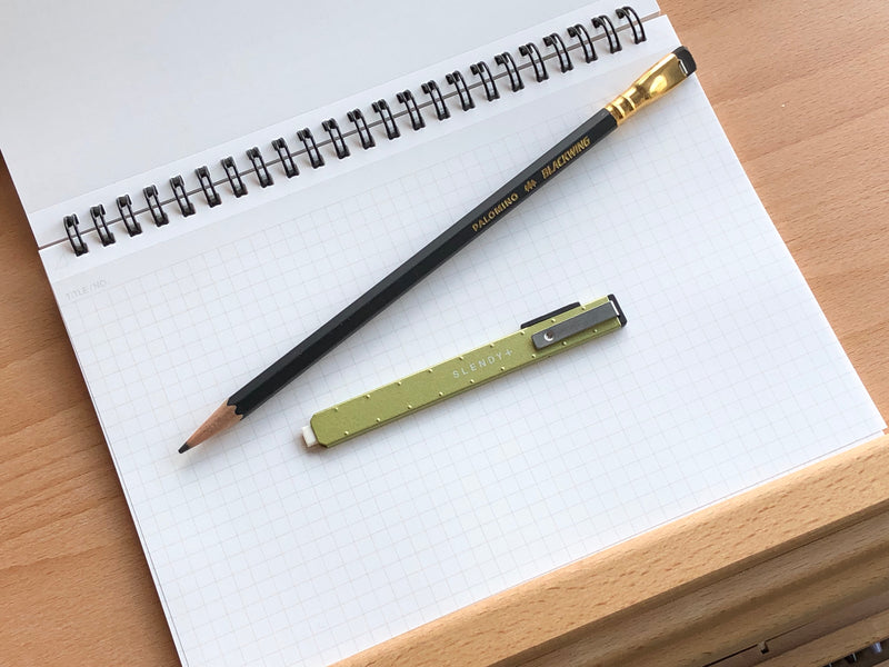 SEED Slendy+ Steel Holder Eraser - Green