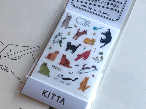 Kitta Portable Washi Tape - Icon - Cat