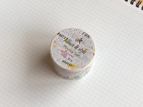 Masking Tape Washi - Happy Party