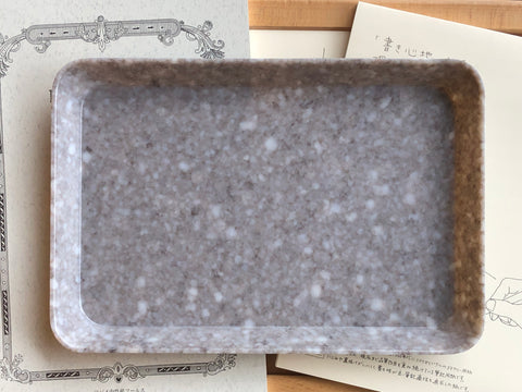 Hightide Marble Desk Tray - Medium - Gray